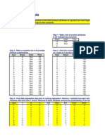 Excel Statistical Analysis