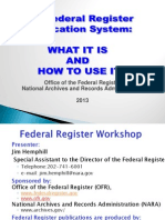 The Federal Register Publication System