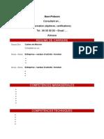 Resume-De-carriere Nom Prenom 112012
