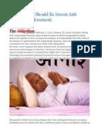 Anna Hazare Should Re Invent Anti Corruption Movement