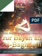 Das Austrecken der Hände zur Bayah an Al-Baghdadi