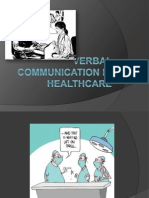 verbal communication in healthcare