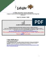 UML Information Literacy Newsletter October 09