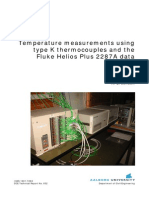 Temperature Measurements Using Type K Thermocouples and the Fluke Helios Plus 2287A Datalogger