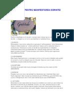 7 Elemente Pentru Manifestarea Dorintei