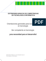 ESTÁNDARES BÁSICOS DE COMPETENCIAS EN TECNOLOGÍA E INFORMÁTICA