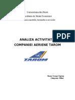 91809790 Analiza Activitatii Companiei Aeriene Tarom