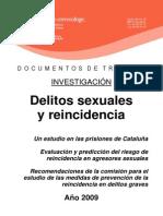 Delitos Sexuales y Reincidencia