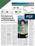 PETR-2009-09-01- Petrobrás terá capitalização de até R$100 bilhões