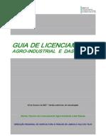 Guia Licenciamento Agro Industrial 03 Outubro 2007