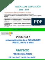PRESENTACION EDUCACION INICIAL