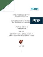 Módulo V Ejecutar programas de trabajo social de las instituciones