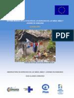 Informe Mensual Diciembre 2013 Casa Alianza Honduras
