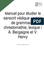 Manuel pour étudier le sanscrite védique