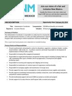 EQNM Administrative Coordinator Position Description