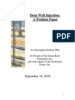 Deep Well Injection Position Paper