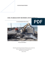 Soil Stabilization Methods and Materials