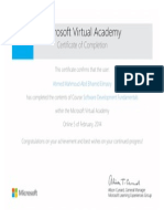 Certificate of Software Development Fundamentals