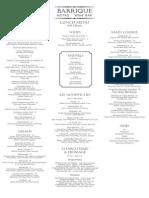 barrique lunch menu portrait