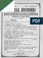 Analele Dobrogei  Revista Societăţii Culturale Dobrogene, 02, nr. 03, iulie-septembrie 1921