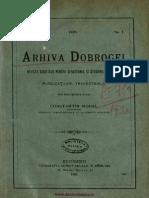 Arhiva Dobrogei Revista Societăţii pentru Cercetarea şi Studierea Dobrogei. Volumul 3, nr. 01, 1920