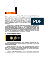 Matahari Materi Kosmografi