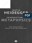 Heidegger Introduction to Metaphysics