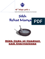 sikh rehat maryada code of conduct - english