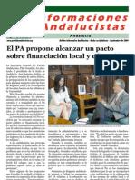 Boletín informativo del Partido Andalucista - Septiembre
