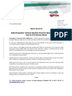 MEDIA RELEASE- Allity Aged Care Signed to Salta Properties 678 Victoria Street