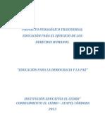 Proyecto de Educacion Para La Democracia j.b