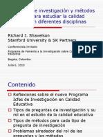 Richard Shavelson Preguntas de Investigacion y Metodos Empiricos Para Estudiar La Calidad Educativa en Diferentes Discipl~1