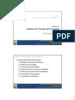 GESTION DEL TIEMPO EN PROYECTOS