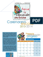 Calendario 2013_2014 Educación inclusiva