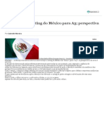Moody's eleva rating do México para A3; perspectiva é estável