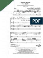 21 Guns choral arrangement