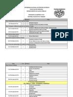 Programa con fechas  sugeridas 2014 Plan único Salud en el Trabajo