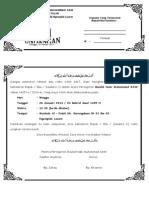 Undangan Maulud Karangndowo