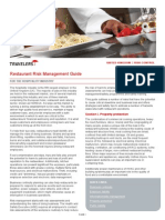 Restaurants Risk Management Guide UK