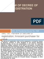 Review of Decree of Registration