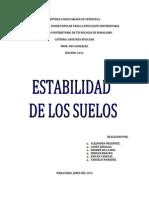 Informe de Geología Aplicada (Estabilidad de los suelos)