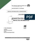 ADMINISTRACIÓN DE PROYECTOS INFORMATICOS