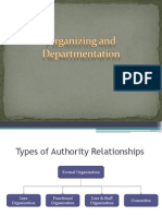 Organizing and Departmentation