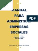 Manual Para Administrar Empresas Sociales