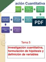 Investigación cuantitativa, formulación de hipótesis y definición de variables