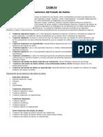DSM IV. Trastornos Del Estado de Animo