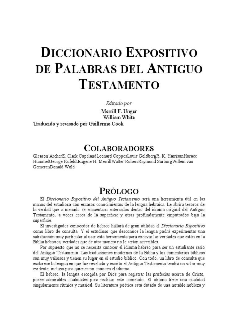 Diccionario Semantico Del Hebreo Y Griego Bíblicos