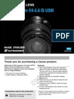 Canon 70-300mm IS USM lens instructions.pdf