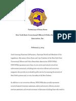 NYSCOPBA President Donn Rowe's testimony