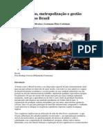 Urbanização, metropolização e gestão territorial no Brasil